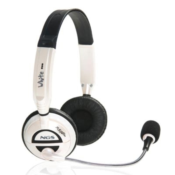 Headphones with Microphone NGS MSXProWhite White (3.5 mm)