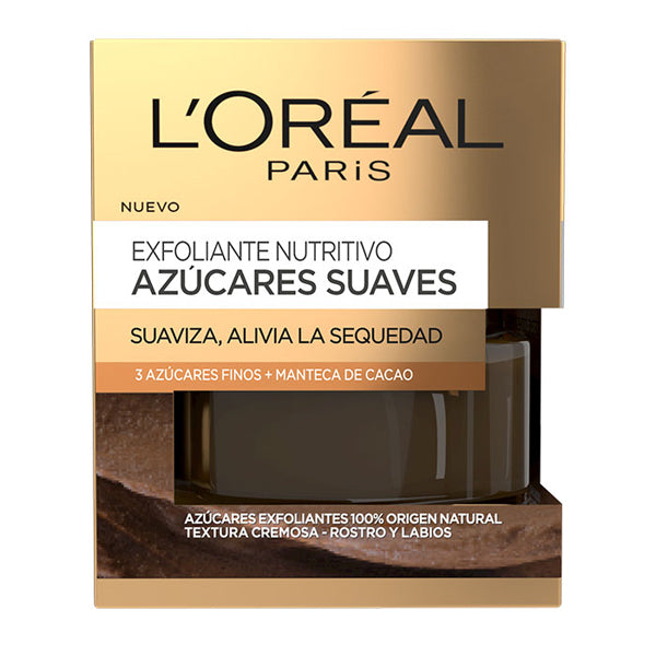 Esfoliante Nutritivo Azúcares Suaves L'Oreal Make Up (50 ml)