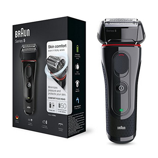Electric Shaver Braun 5030 Series 5 Rechargeable Wireless Black Red (Refurbished B)