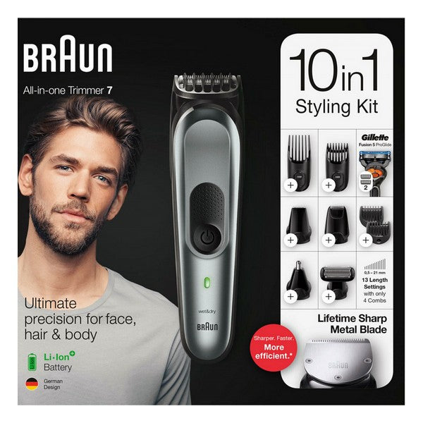 Rechargeable Electric Shaver Braun Bodygroom MGK7221 Grey