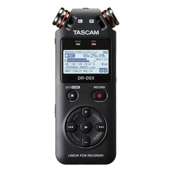 Recorder Tascam DR-05X USB 2.0 128 GB Black (Refurbished A+)