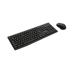 Keyboard and Wireless Mouse Omega OKM071BES 1200 dpi Black