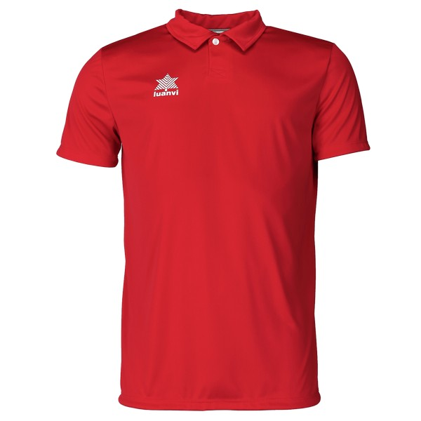 Short Sleeve Polo Shirt Luanvi Pol Red