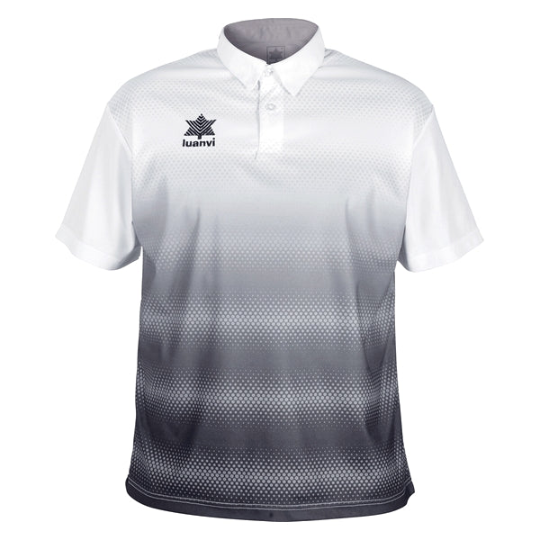 Short Sleeve Polo Shirt Luanvi Olimpia White