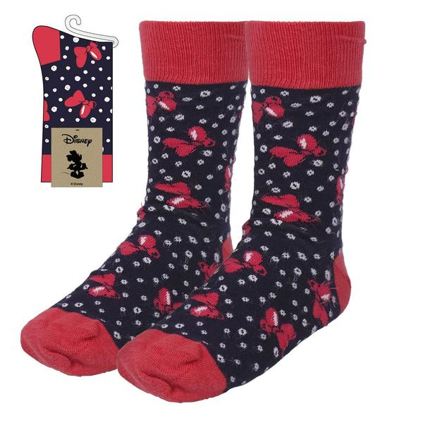 Socks Minnie Mouse Adult Black (One size)