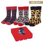 Socks Minnie Mouse Adult (3 uds) (One size)