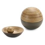 Decorative bauble Beige 10 (10 x 10 x 10	 cm) Bamboo