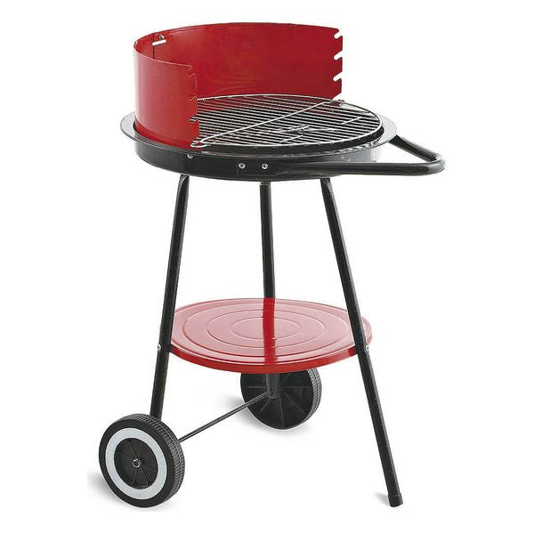 Coal Barbecue with Wheels Algon Black Red (ø 43 cm)