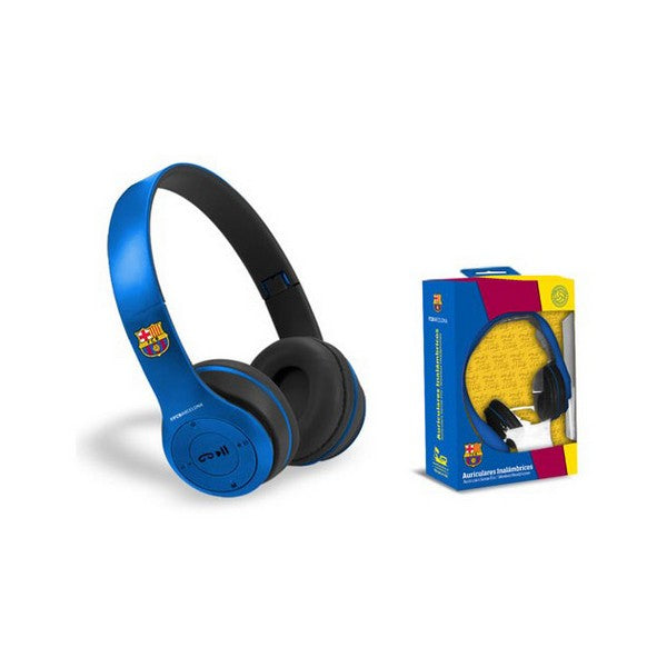 Headphones with Headband F.C. Barcelona Bluetooth Blue
