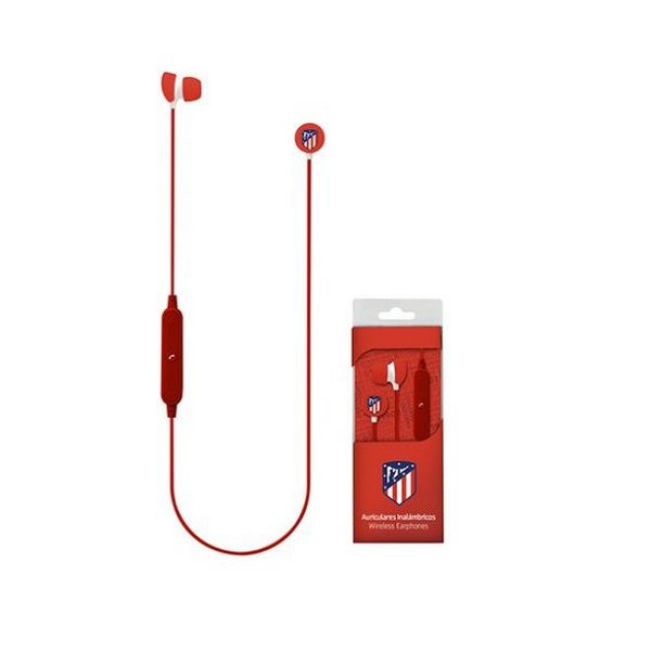 Bluetooth Sports Headset with Microphone Atlético Madrid Red