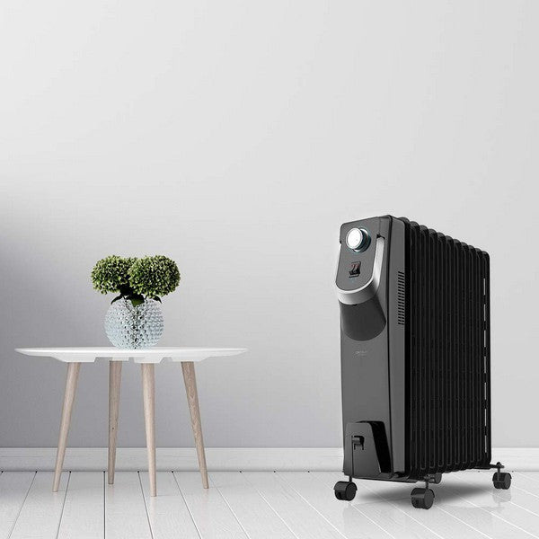 Oil-filled Radiator (11 chamber) Cecotec 5870 Space 360º Black 2500W (Refurbished B)