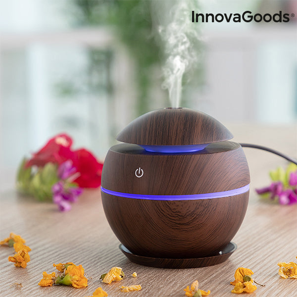 Mini Humidifier Scent Diffuser Dark Walnut