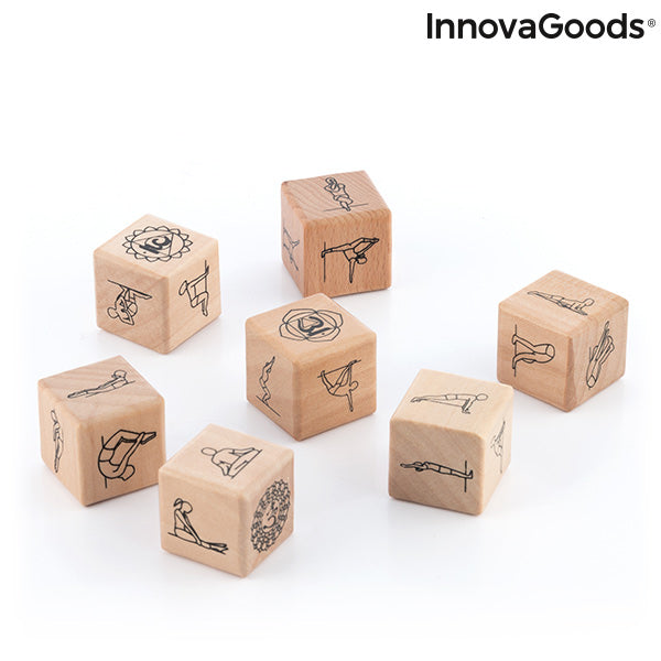 Yoga Dice Game Anandice InnovaGoods 7 Pieces