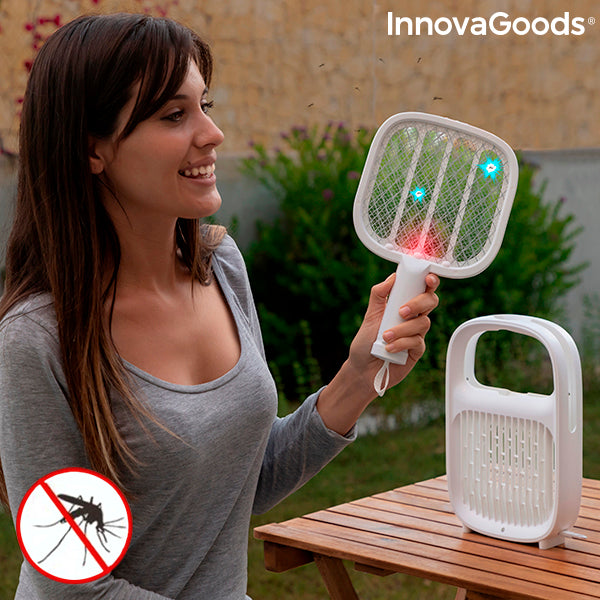 2 in 1 Rechargeable Mosquito Repellent Lamp and Insect-killing Racquet Swateck InnovaGoods