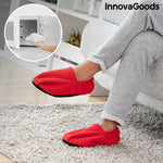Microwavable Heated Slippers InnovaGoods Red