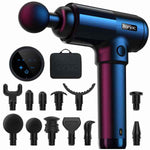 Massage Gun for Relaxation and Muscle Recovery Adjustable 20 levels Interchangeable heads Black (Refurbished A+)
