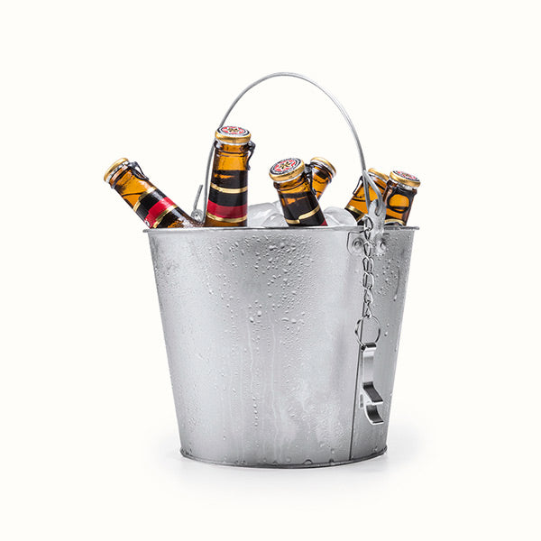 Ice Bucket with Handle and Aluminium Bottle Opener 145332