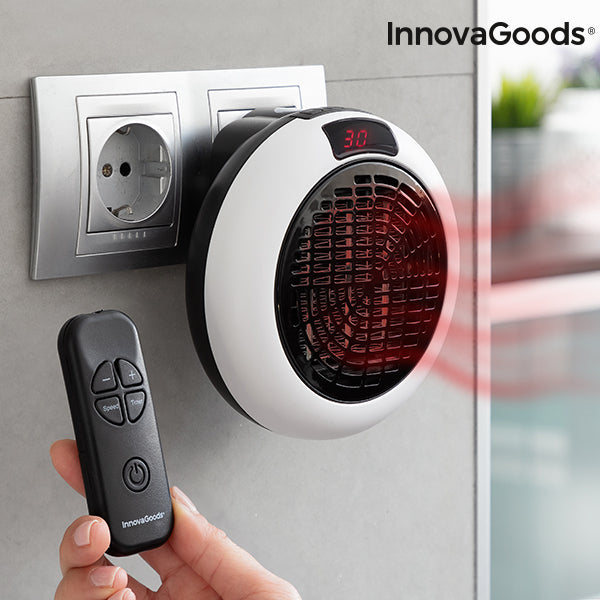 Mini Ceramic Plug Heater with Remote Control 600W
