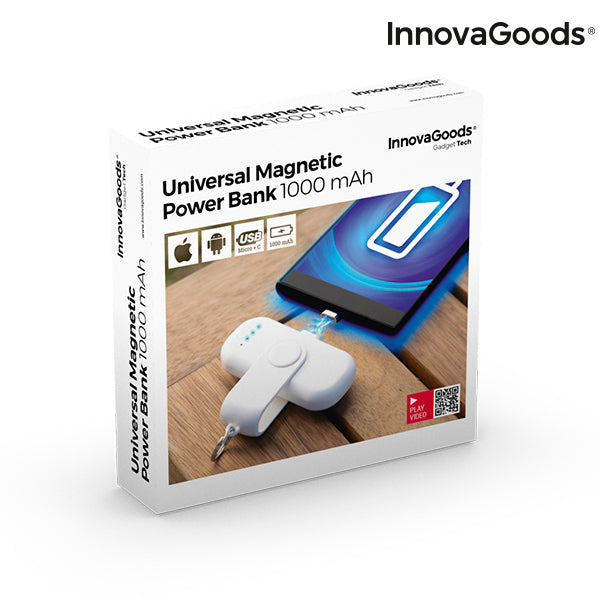 InnovaGoods Pocket Magnetic Power Bank 1000 mAh
