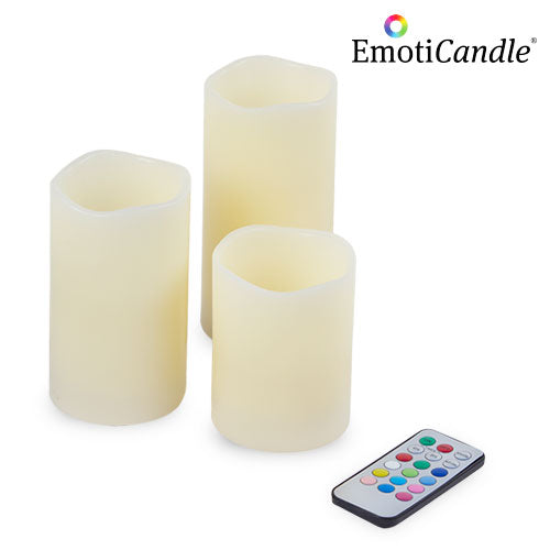 EmotiCandle LED Candles (pack of 3)