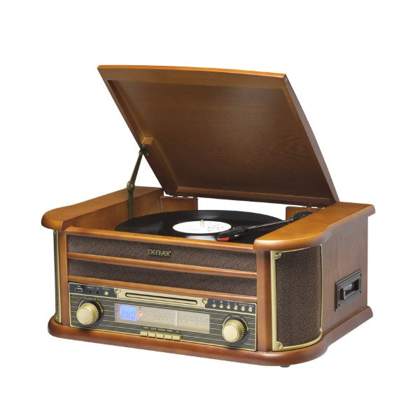 Record Player Denver Electronics MCR-50MK3 USB 5W Wood
