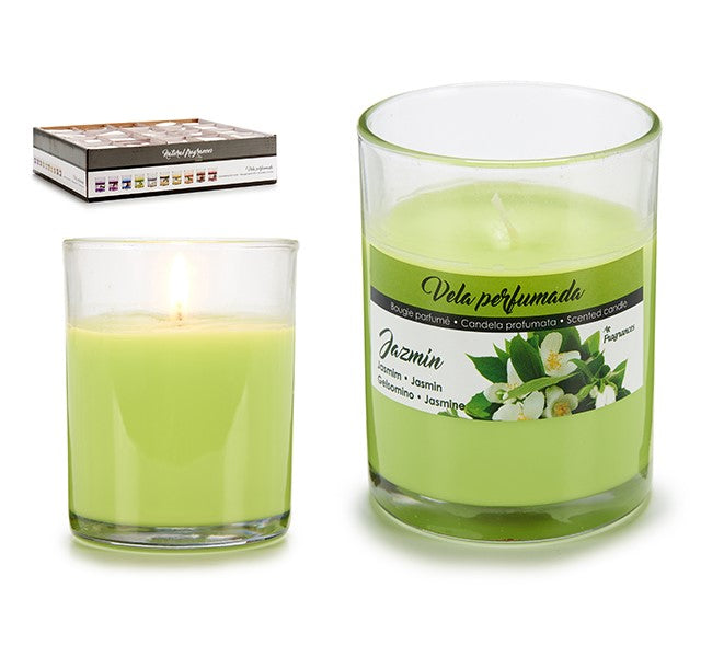Scented Candle Glass Jasmine (7 x 8,3 x 7 cm)