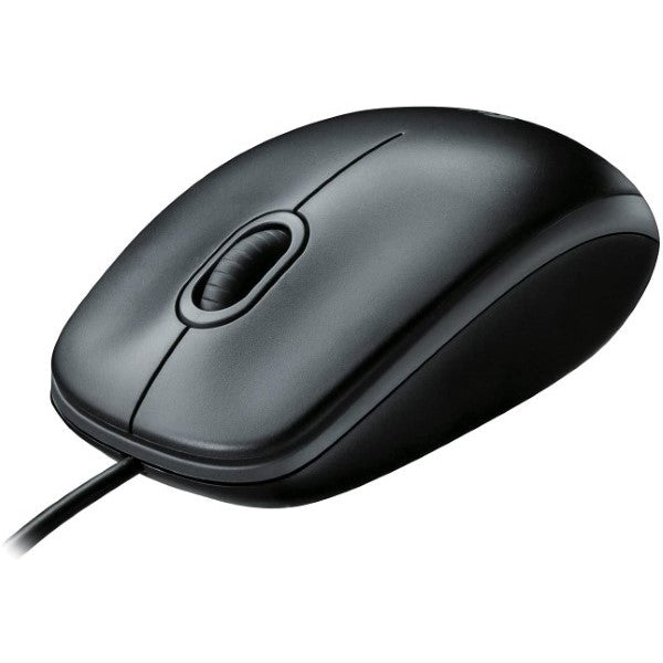 Mouse with Cable and Optical Sensor Logitech B100 Black (Refurbished A)
