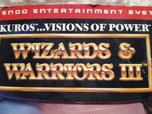 Wizards & Warriors III: Kuros: Visions of Power - NES