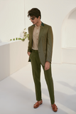 Olive Green Textured Blazer
