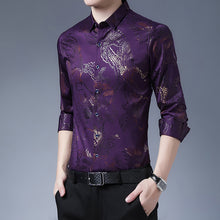 Load image into Gallery viewer, Fashionable 3D stamping printed ice silk shirt