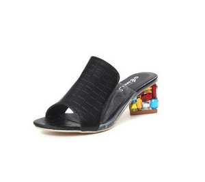 Female with fish mouth sandals - onekfashion