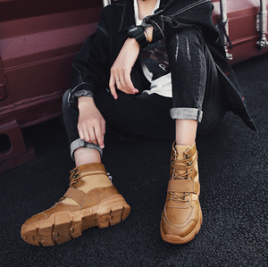 Leather Martin Boots - onekfashion