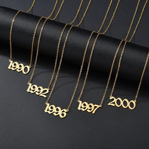 Memorable Years Number Necklace【Buy 1 Get 1 Free】
