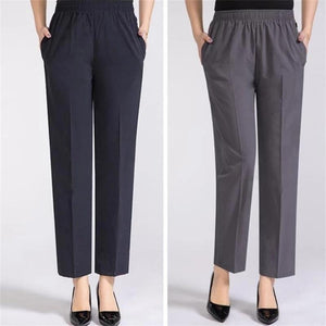 【Buy 1 Free 1】Middle~aged Women's Loose ice silk Trousers