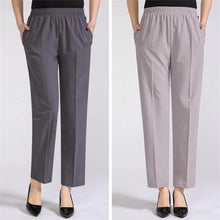 Load image into Gallery viewer, 【Buy 1 Free 1】Middle~aged Women's Loose ice silk Trousers