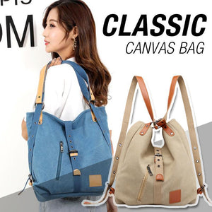 Classic multifunctional canvas bag