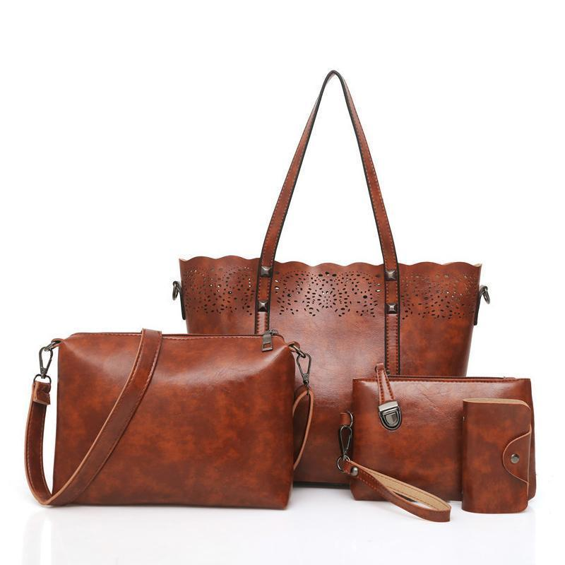 Classic four-pieced set of elegant lady bags - onekfashion