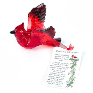 Red Cardinal Messenger Always Near Ornament