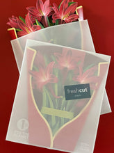 Load image into Gallery viewer, Red Amaryllis Freshcut Paper Bouquet