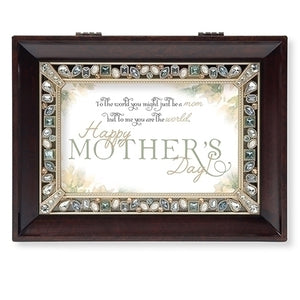 Happy Mother's Day Jeweled Music Box