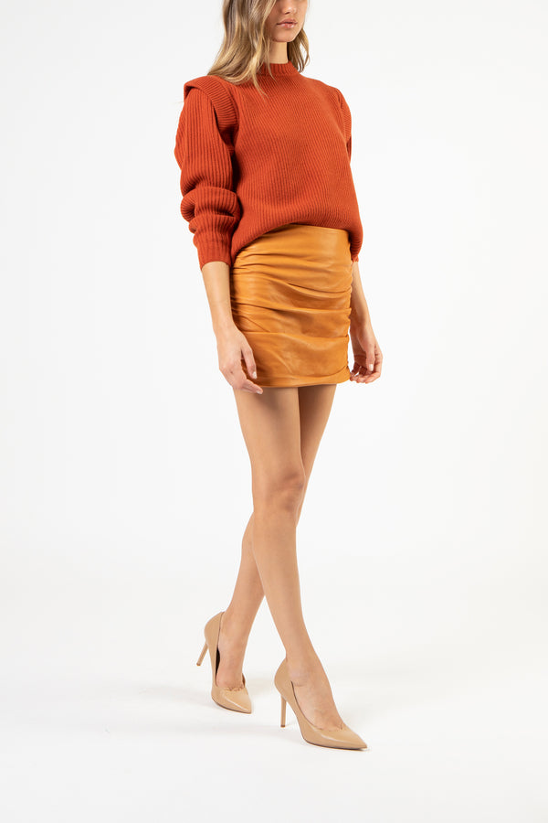 Panel sweater - rust