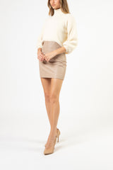 Turtleneck sweater - cream