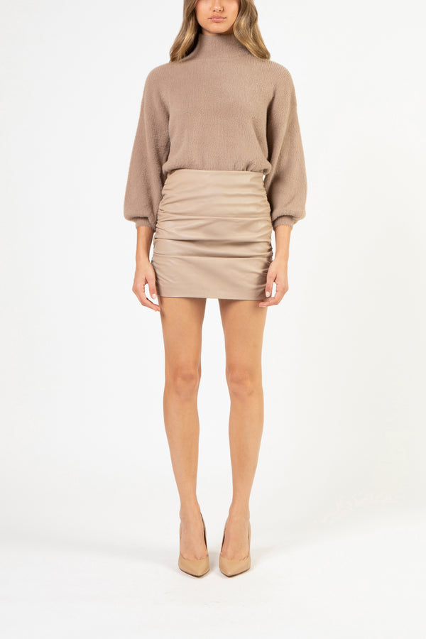 Turtleneck sweater - putty