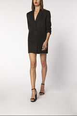 OVERSIZED BLAZER DRESS - black