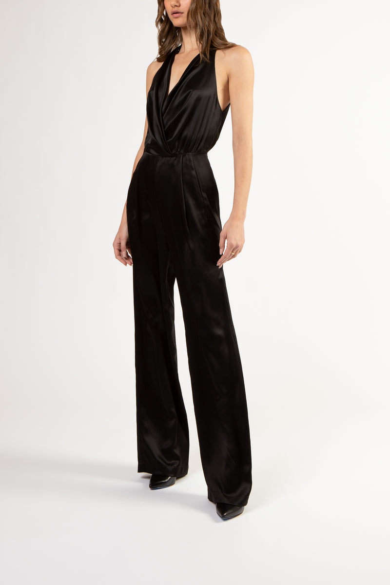 Halter jumpsuit - black