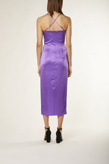 BANDED DRESS - grape