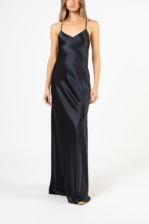 Bias maxi dress - midnight