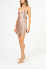 Bias mini dress - putty
