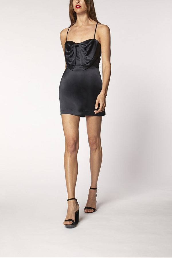 BOW MINI DRESS - midnight