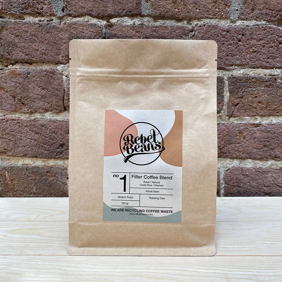 Rebel Beans Filter Coffee Blend made from Brazil and Costa Rica coffee beans will make the best tasting and smooth filter coffee for you.